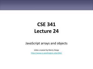 CSE 341 Lecture 24
