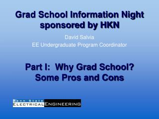 Grad School Information Night sponsored by HKN