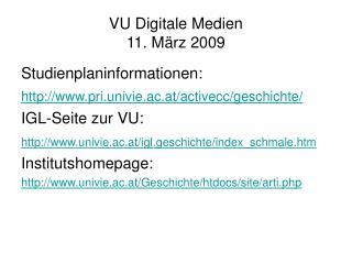 VU Digitale Medien 11. März 2009