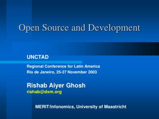 Open Source and Development