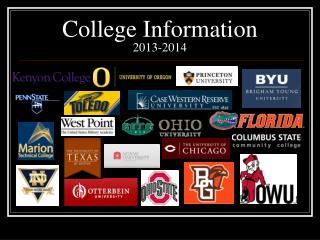College Information  2013-2014
