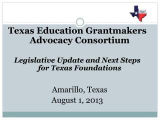 Texas Education  Grantmakers  Advocacy Consortium