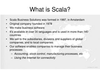 What is Scala?