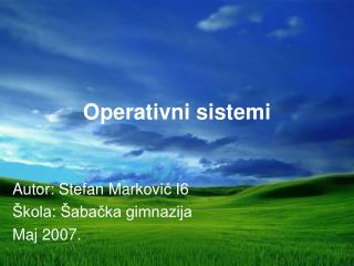 Operativni sistem i