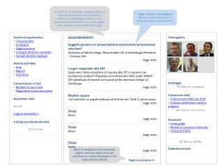 Struttura organizzativa >  L'Associazione >  Lo Statuto >  Organizzazione