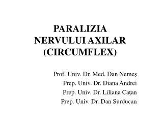 PARALIZIA  NERVULUI AXILAR (CIRCUMFLEX)