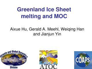 Greenland Ice Sheet  melting and MOC