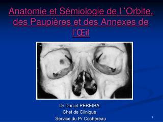 Anatomie et Sémiologie de l ' Orbite, des Paupières et des Annexes de l ' Œil