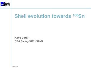Shell  evolution towards 100 Sn