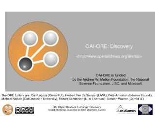 OAI-ORE: Discovery  <openarchives/ore/toc>