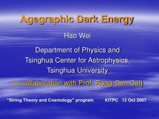 Agegraphic Dark Energy