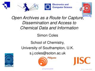 Open Archives as a Route for Capture, Dissemination and Access to Chemical Data and Information
