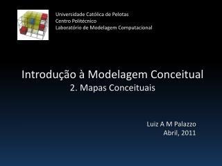 Introdução à Modelagem Conceitual 2. Mapas Conceituais