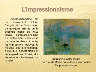 L�impressionnisme