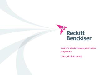 Supply Graduate Management Trainee Programme China, Thailand & India
