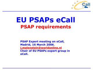 EU PSAPs eCall PSAP requirements