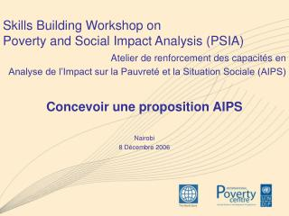 Skills Building Workshop on  Poverty and Social Impact Analysis (PSIA)