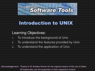 Introduction to UNIX