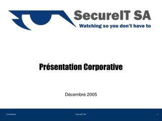 Présentation Corporative