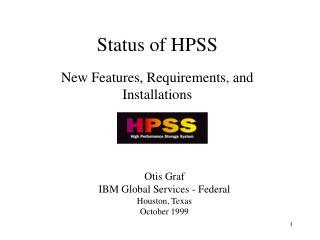 Status of HPSS