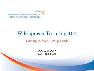 Wikispaces  Training 101