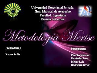 Universidad Nororiental  Privada  Gran Mariscal de Ayacucho Facultad: Ingeniería Escuela: Sistemas