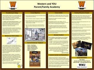 Western and YOU Parent/Family Academy
