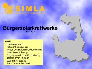 Bürgersolarkraftwerke Horst Prem