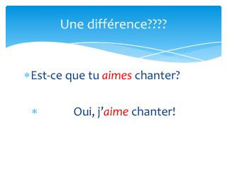 Une différence????
