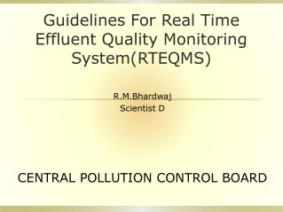 Guidelines For Real Time Effluent Quality Monitoring System(RTEQMS)