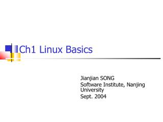 Ch1 Linux Basics