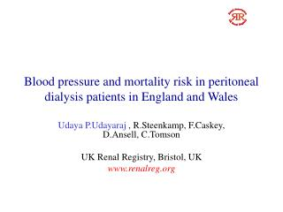 Blood pressure and mortality risk in peritoneal dialysis patients in England and Wales