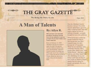 A Man of Talents