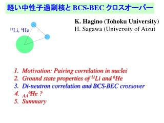 軽い中性子過剰核と  BCS-BEC  クロスオーバー