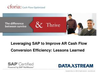 Leveraging SAP to Improve AR Cash Flow Conversion Efficiency: Lessons Learned
