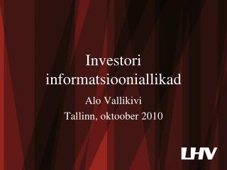 Investori informatsiooniallikad