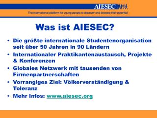 Was ist AIESEC?