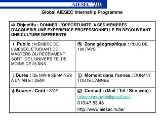 Global AIESEC Internship Programme