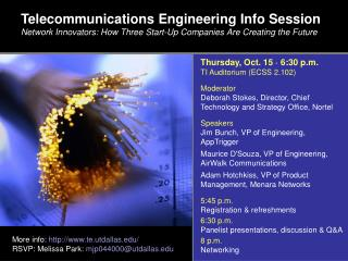 Telecommunications Engineering Info Session