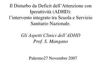 Palermo27 Novembre 2007
