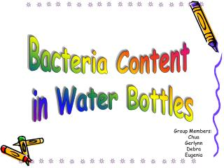 Bacteria Content  in Water Bottles
