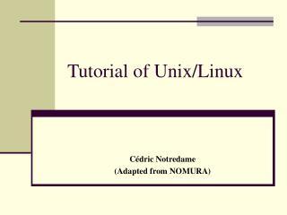 Tutorial of Unix/Linux