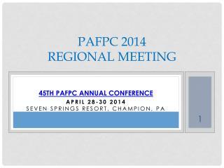 PAFPC 2014 Regional meeting