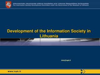 Development of the Information Society in Lithuania