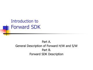 Introduction to Forward SDK