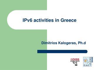 IPv6 activities in Greece