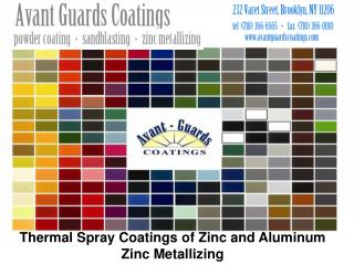 Thermal Spray Coatings of Zinc and Aluminum Zinc Metallizing