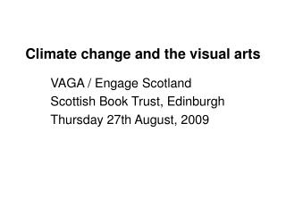 Climate change and the visual arts
