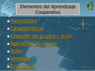 Elementos del Aprendizaje Cooperativo