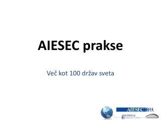 AIESEC prakse